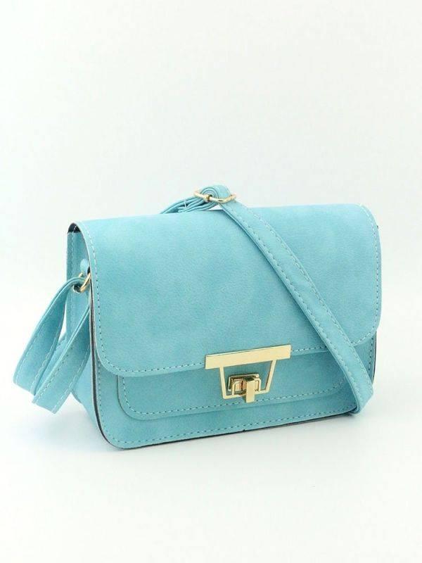 Geometric Shoulder Bag Shape Twist Lock Chain