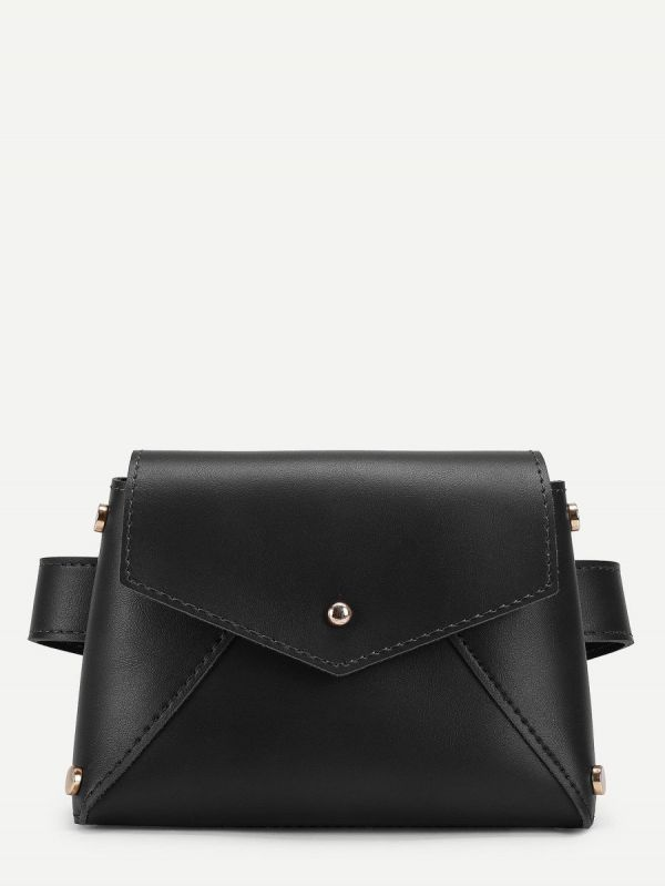 Leather bag for black waist