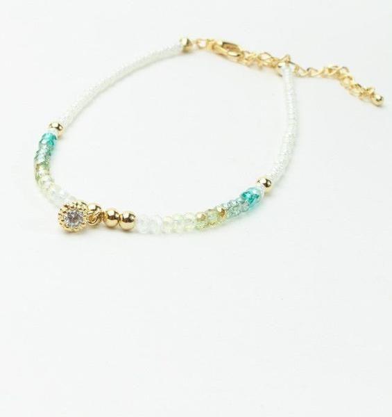 Turkish crystal anklet