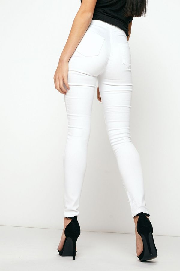 White tight jeans