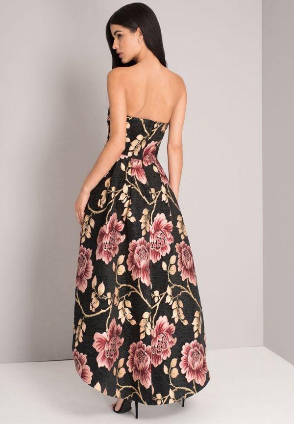 Dress Black Midi Tree Rose Chi Chi London