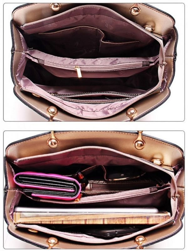 Shoulder bag with wallet and holster