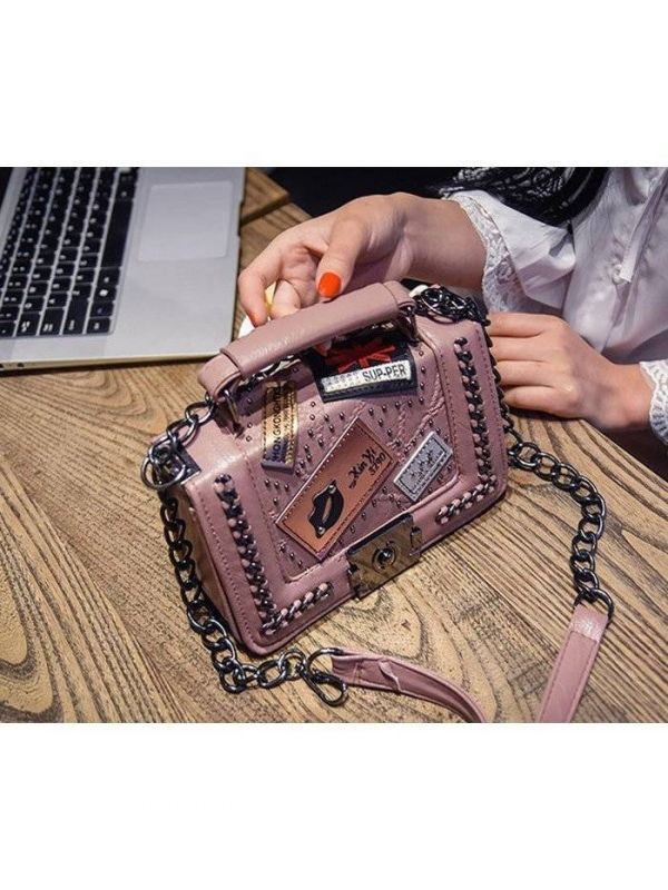 Small shoulder bag with chain