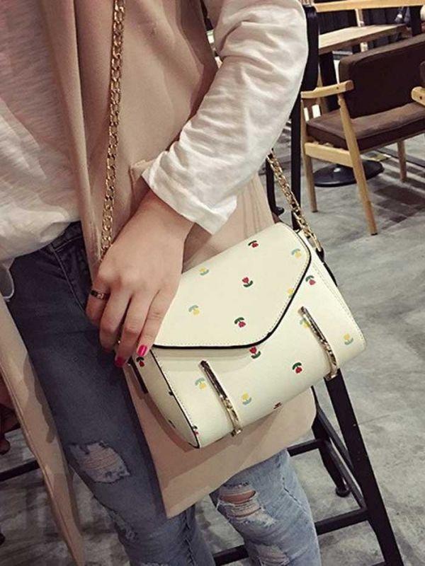A white handbag