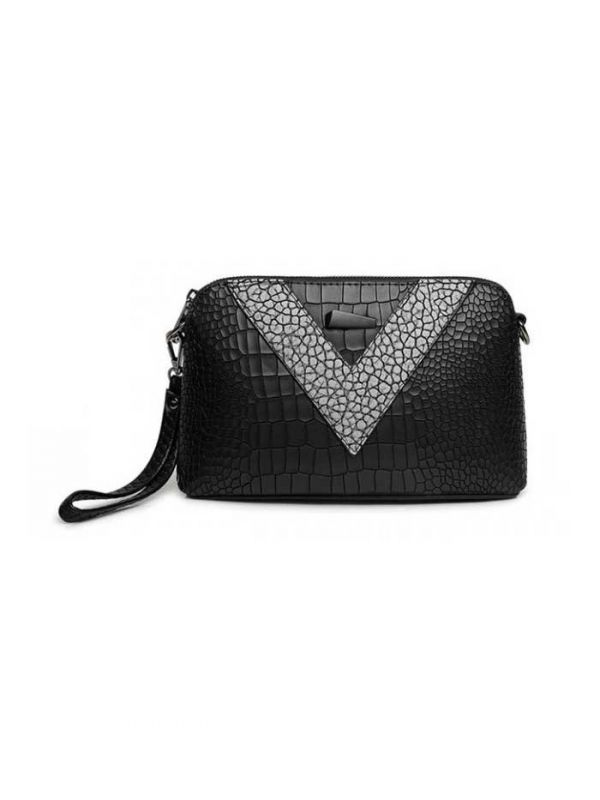 A small black handbag