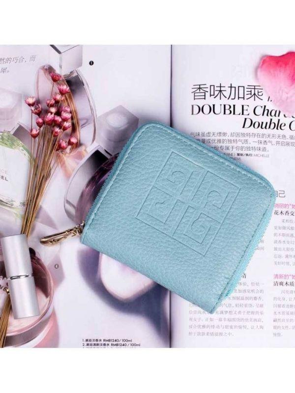 Pink purse with closure closure