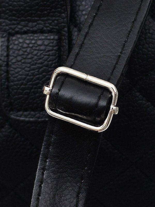 Mango black leather