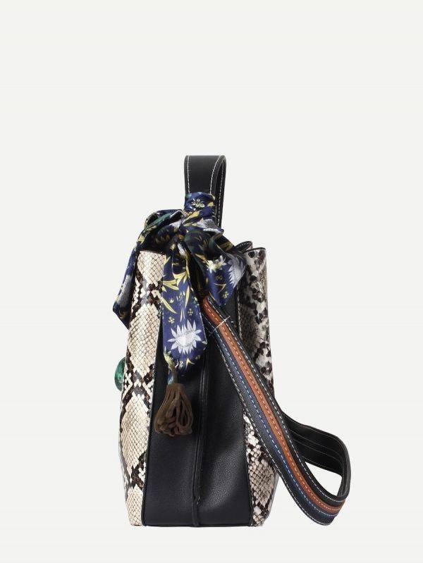 A black bag binds it