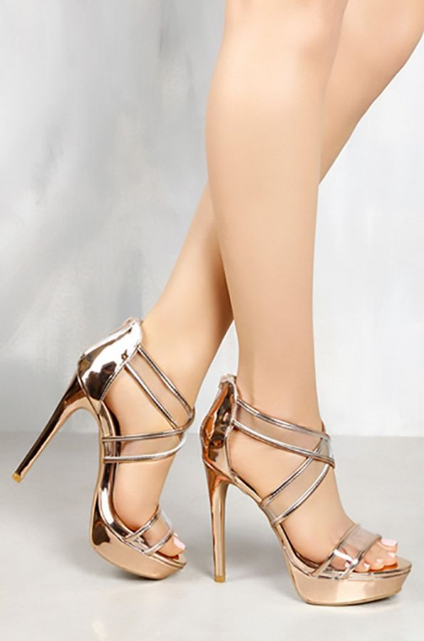 Lux Lux shoes in gold
