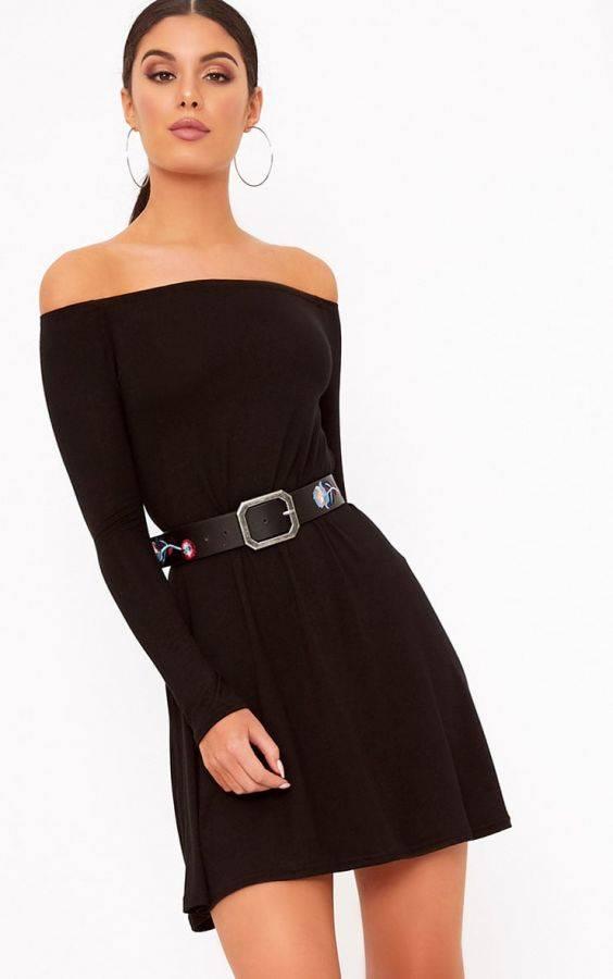 Black Garouleh Short Dress