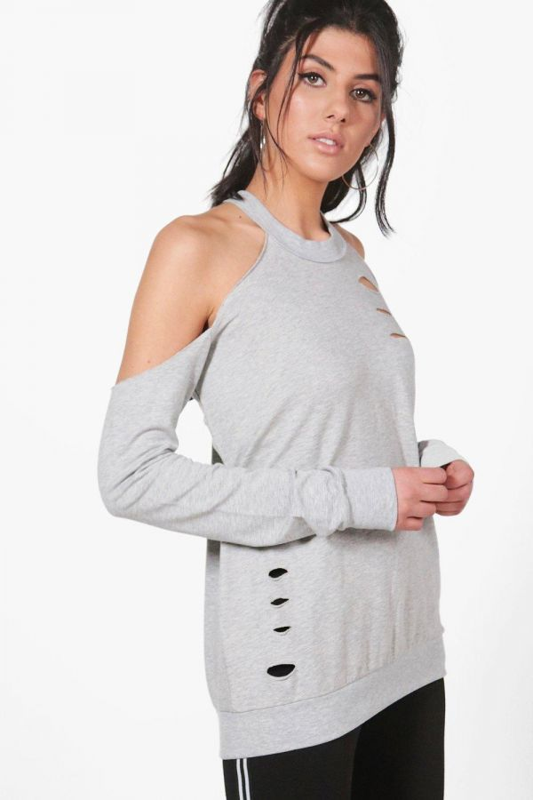 T-shirt gray long sleeves