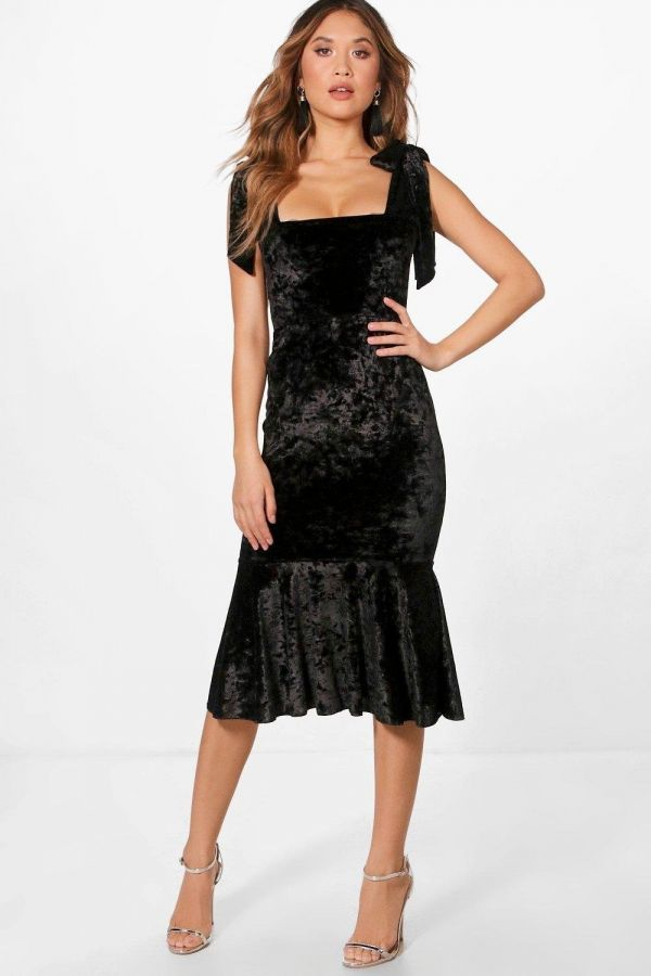 Very thin velvet dress