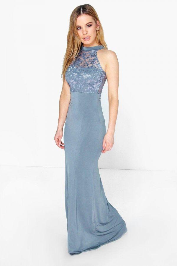 فستان ماكسي سماوي