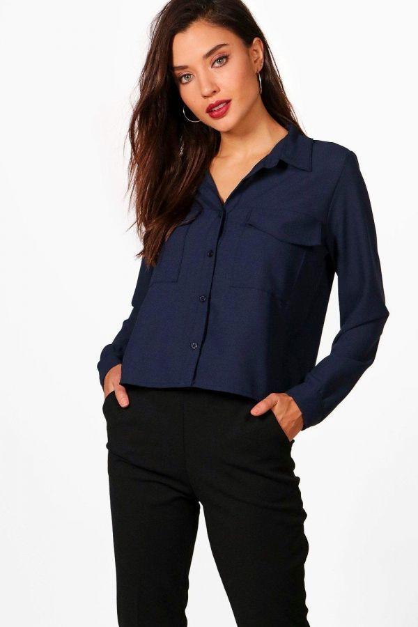 Stylish navy shirt