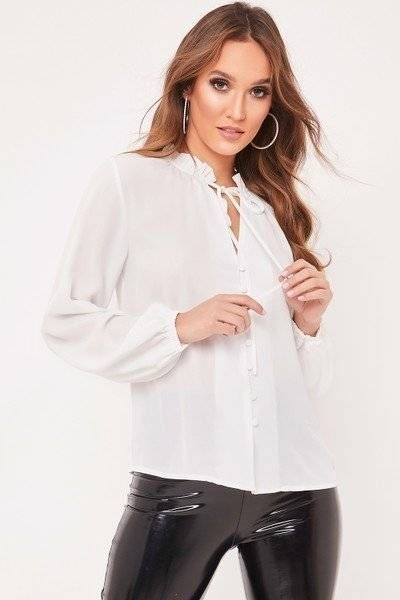 White blouse with sleeves
