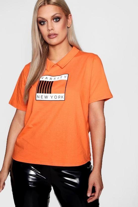 T-shirt New York brand Bohoo