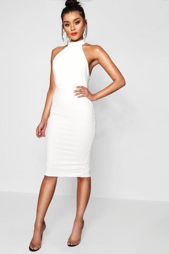 White Dress Medium Length