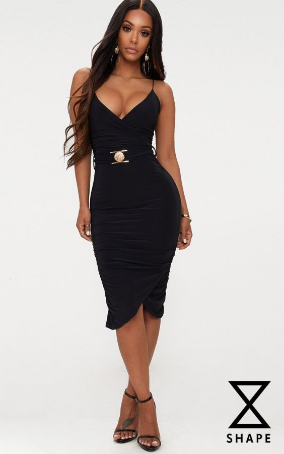 Black Dress Medium Length