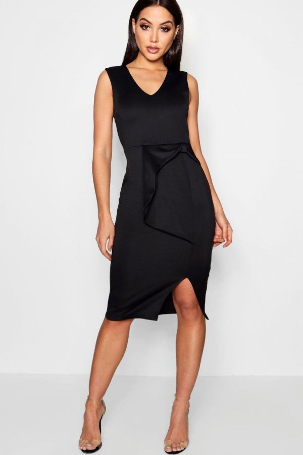 Black Midi Dress with a distinctive story