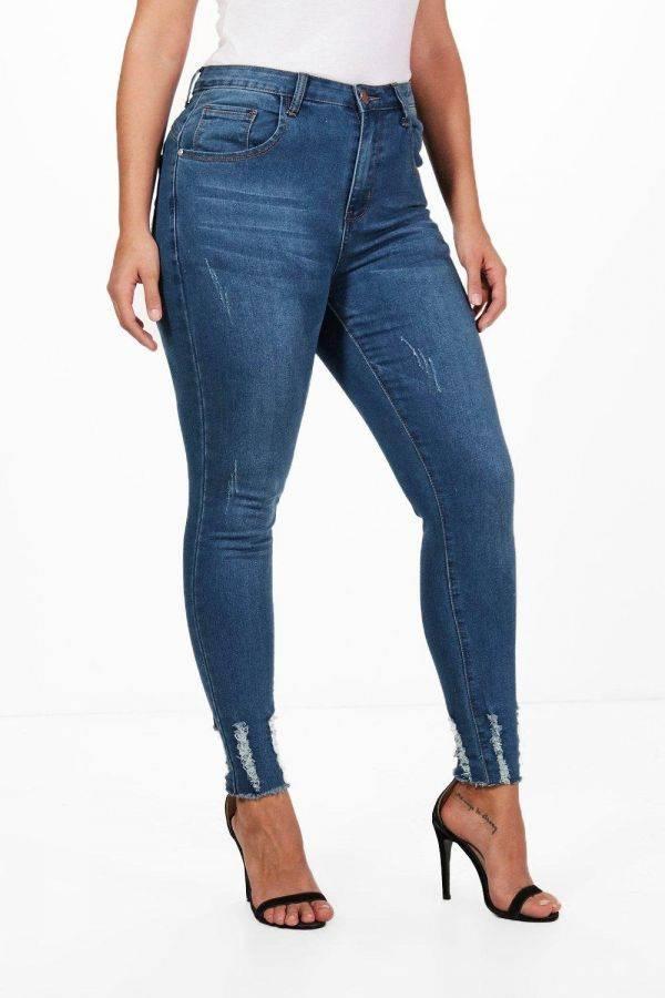 بنطلون جينز ازرق كحلي بوهو