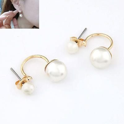 Earring Pearls Double Side Lulu