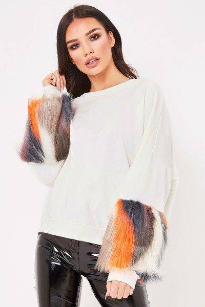 Ashley Blouse with multiple fur sleeves