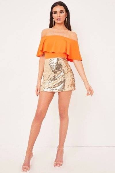 Blouse Victoria Orange Birdo