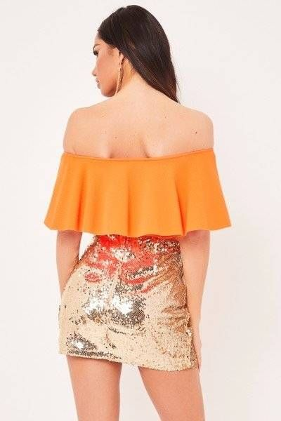 Blouse Victoria Orange Birdo