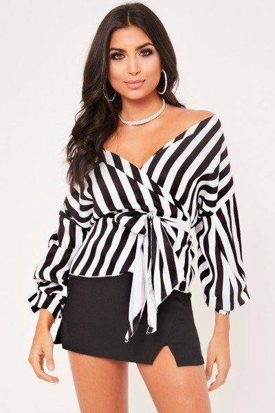 Blouse Piper striped high