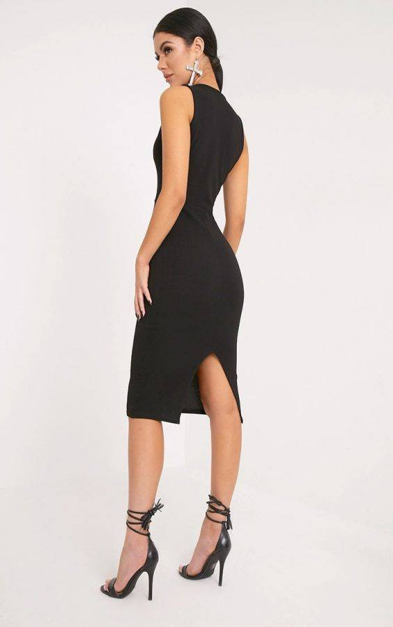 NEVI DRESS BLACK Medium length