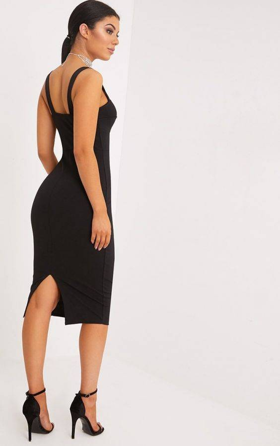 Medium black dress with open back