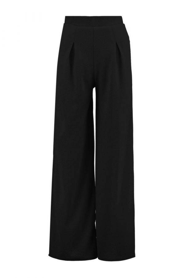 Wide black trousers