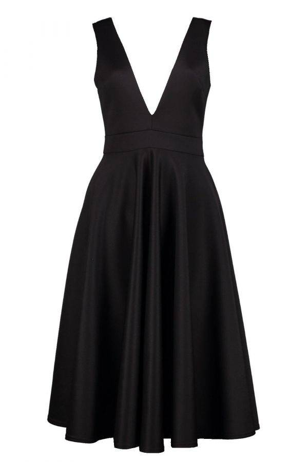 Medium length sleeveless dress