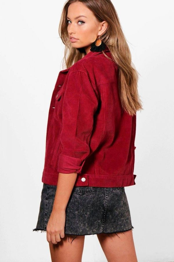 Red short jacket