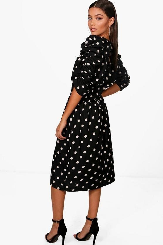 Black dress dotted brand Bauho