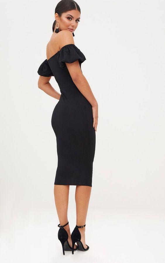 Dress Medium Length Black