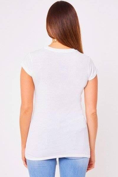 White T-shirt printed in Havana