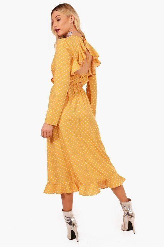 Dress yellow dotted
