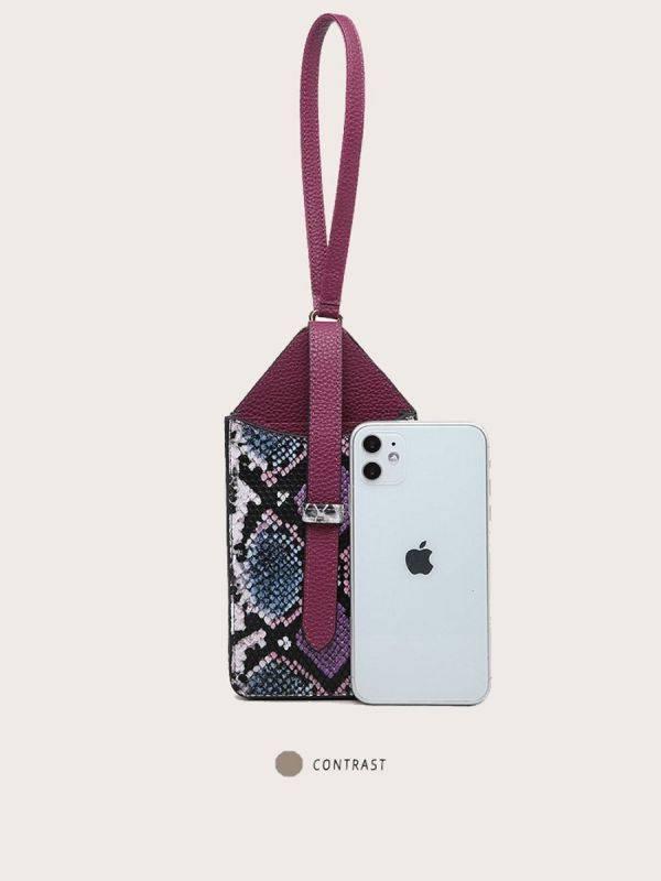 حقيبة جوال جلد ثعبان-2