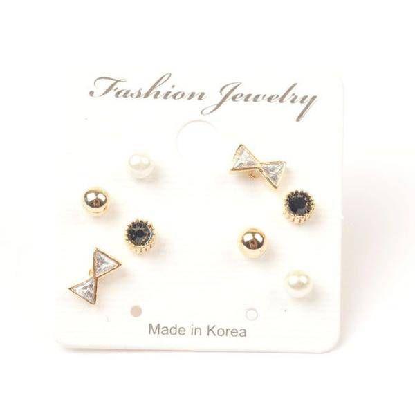 Korean earrings total 4 pairs