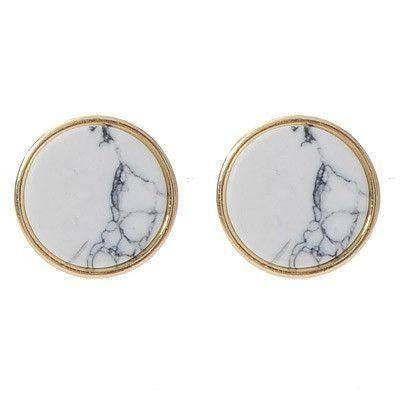 White marble earring