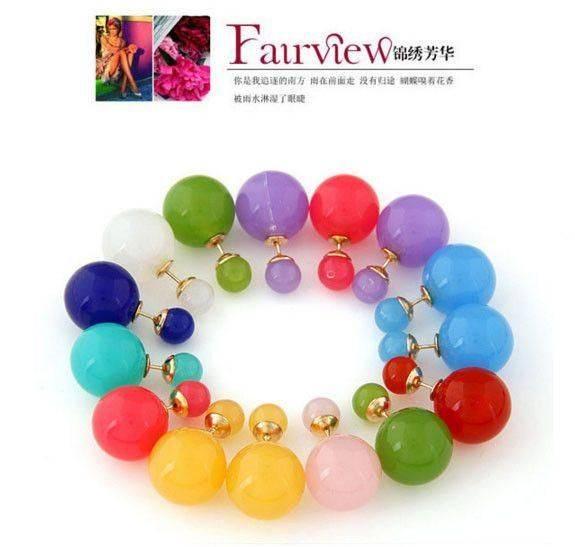 Colorful acrylic earrings