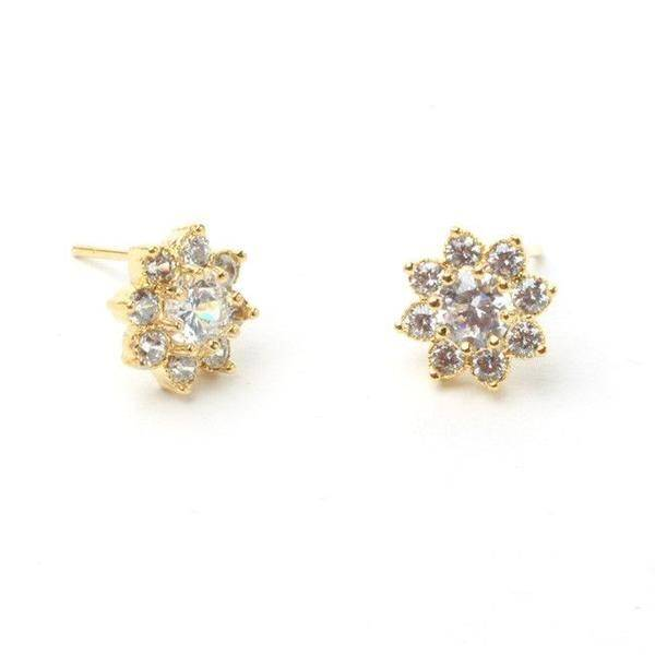 Zirconia earrings and small size