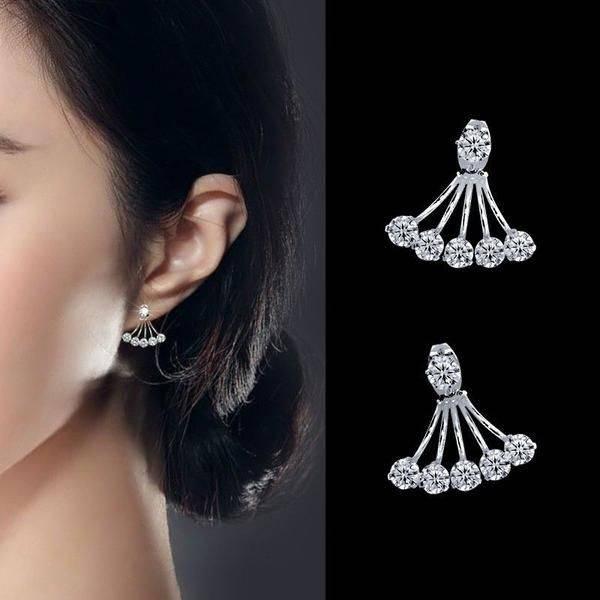 Zircon Double Earring Earrings
