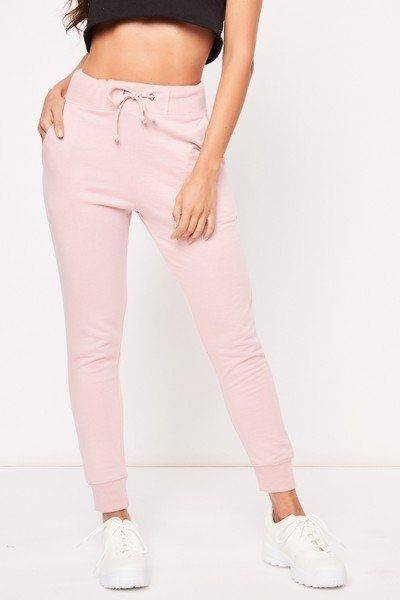 Jumper trousers with elastic waist and tie
