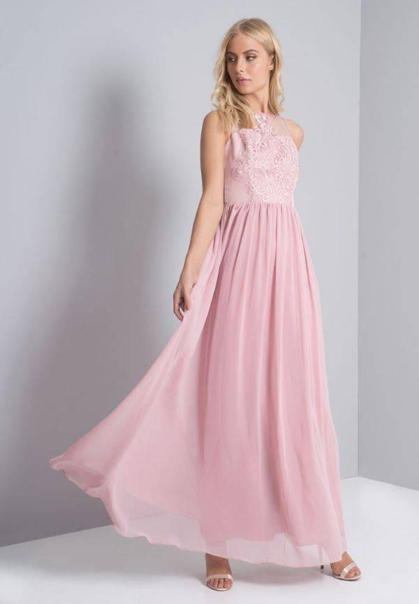 فستان ماكسي وردي ليلك