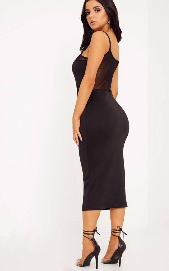 Cami Black Dress Medium Length