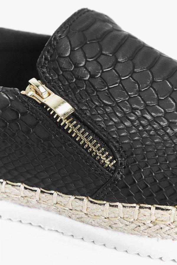 حذاء لولا فلات بسحاب جانبي