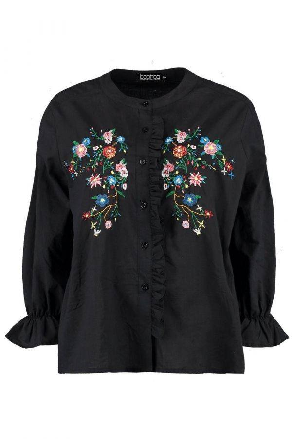 Shirt-shaped blouse