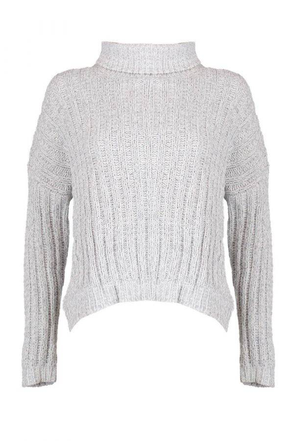 A round neck sweater